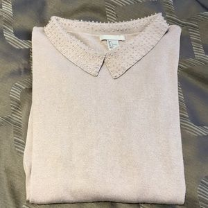 H&M beaded collar sweater